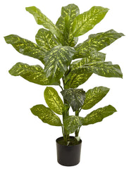 6823 Dieffenbachia Silk Plant with Planter by Nearly Natural | 48 inches