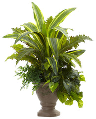 6825 Yucca Marginatum Fern Pothos Bracken Faux Plants Nearly Natural | 25""