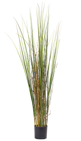 6829 Grass & Bamboo Silk Plant with Planter by Nearly Natural | 48 inches
