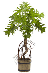 6858 Split Philodendron Faux Plant with Planter by Nearly Natural | 27""