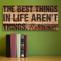CA0027 Best Things in Life Print on Canvas | Personalized Wall Art 18x8 by JDS Marketing