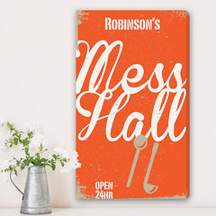 CA0035 Family Mess Hall Print on Canvas | Personalized Wall Art 14x24 by JDS Marketing
