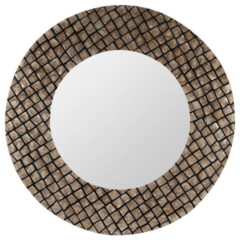 40323 Ava Oversized Round Wall Mirror by Cooper Classics