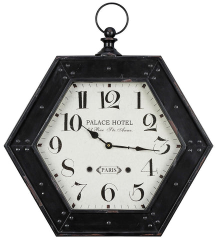 40722 Belmont Large Hexagon Wall Clock by Cooper Classics