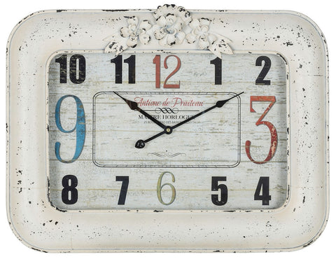 40708 Blanco Large Rectangle Wall Clock by Cooper Classics