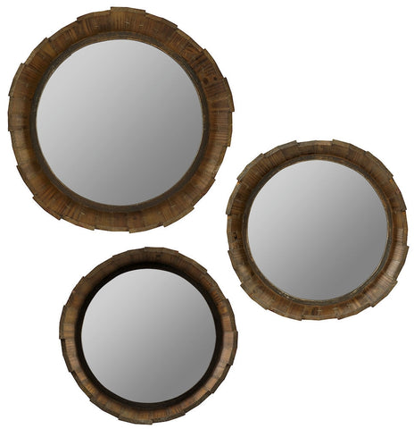 40582 Dastan Set of 3 Medium Round Wall Mirrors by Cooper Classics