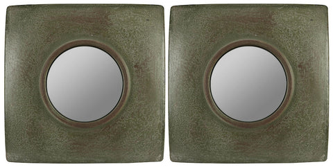 40584 Jeremiah Set of 2 Small Square Wall Mirrors by Cooper Classics