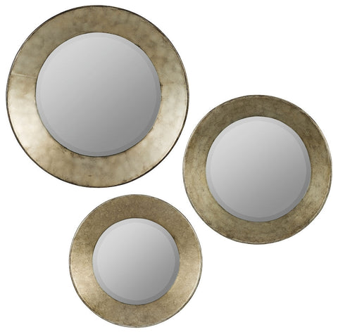 40679 Kadri Set of 3 Large Round Wall Mirrors by Cooper Classics
