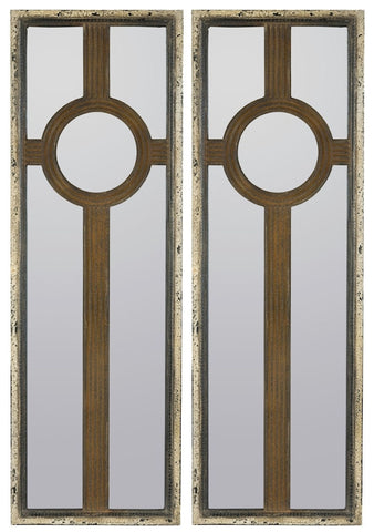 40586 Kyle Set of 2 Rectangle Wall Mirrors by Cooper Classics