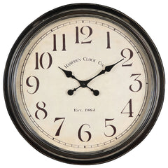 40034 Whitley Extra Large Round Wall Clock by Cooper Classics