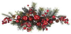 4678 Apple & Berry Artificial Holiday Swag by Nearly Natural | 30 inches