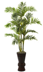 5927 Areca Palm Artificial Tree w/Planter by Nearly Natural | 62 inches