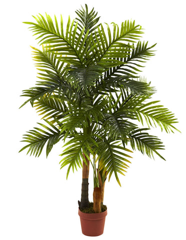 5424 Areca Palm Artificial Silk Tree w/Planter by Nearly Natural | 48""