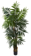 5409 Areca Palm Artificial Silk Tree w/Planter by Nearly Natural | 6'