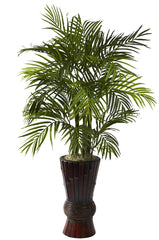 6723 Areca Palm Artificial Silk Tree w/Planter by Nearly Natural | 4'