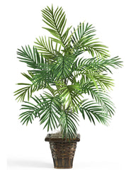 6536 Areca Palm Silk Plant with Wicker Basket by Nearly Natural | 38 inches