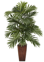 6675 Areca Palm Silk Plant with Planter by Nearly Natural | 32 inches