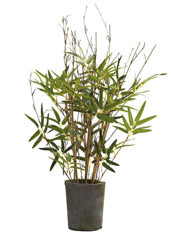 5360 Bamboo Artificial Silk Plant w/Planter by Nearly Natural | 27 inches
