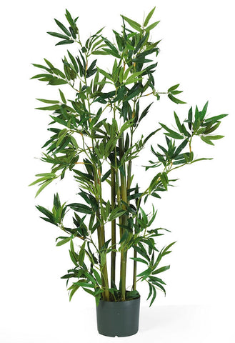 5040 Bamboo Artificial Silk Tree with Planter by Nearly Natural | 48 inches