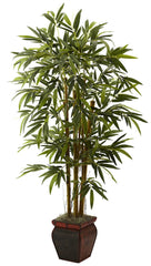 5928 Bamboo Artificial Silk Tree with Planter by Nearly Natural | 5.5 feet