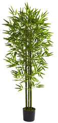 5385 Bamboo Indoor Outdoor Silk Tree w/Planter by Nearly Natural | 5 feet