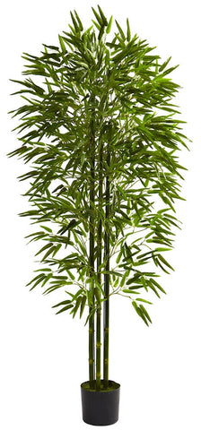 5386 Bamboo Indoor Outdoor Silk Tree w/Planter by Nearly Natural | 6 feet