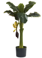 5359 Banana Artificial Silk Tree with Planter by Nearly Natural | 3 feet