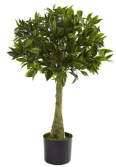 5382 Bay Leaf Indoor Outdoor Silk Topiary Plant by Nearly Natural | 3 feet