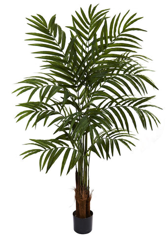 5414 Big Palm Artificial Silk Tree with Planter by Nearly Natural | 5 feet