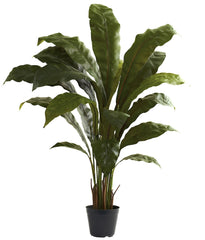 6739 Bird's Nest Fern Silk Plant with Planter by Nearly Natural | 3.5 feet