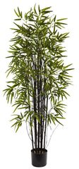 5418 Black Bamboo Artificial Tree with Planter by Nearly Natural | 5 feet