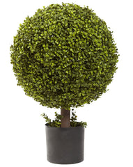 5919 Boxwood Silk Ball Topiary Plant by Nearly Natural | 27 inches