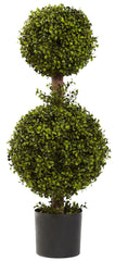 5920 Boxwood Silk Double Ball Topiary Plant by Nearly Natural | 35 inches