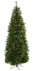 5378 Cashmere Slim Silk Christmas Tree Lights by Nearly Natural | 7.5 feet