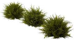 4949-S3 Cedar Set of 3 Artificial Silk Plants by Nearly Natural | 7.5 inches