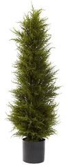5917 Cedar Silk Columnar Topiary Plant by Nearly Natural | 42 inches