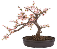 4764 Cherry Blossom Silk Bonsai Tree by Nearly Natural | 15 inches