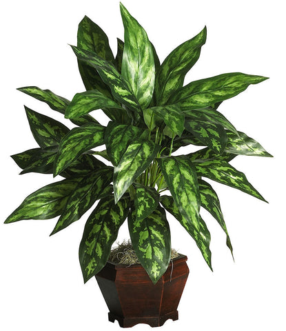 6617 Chinese Evergreen Silver King Silk Plant by Nearly Natural | 29 inches