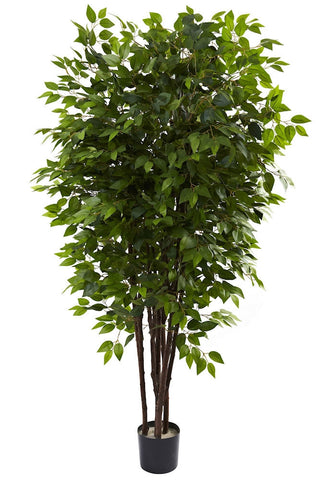 5402 Deluxe Weeping Fig Ficus Silk Tree by Nearly Natural | 6.5 feet