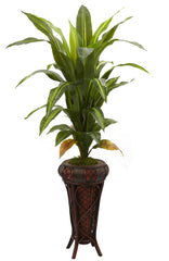 6671 Dracaena Artificial Silk Tree by Nearly Natural | 57 inches