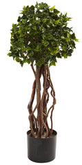 5397 English Ivy Indoor Outdoor Silk Topiary by Nearly Natural | 30 inches