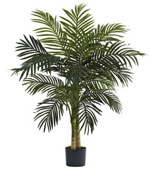 5357 Golden Cane Palm Silk Tree with Planter by Nearly Natural | 4 feet