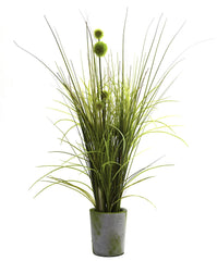4975 Grass & Dandelion Silk Plant w/Planter by Nearly Natural | 26 inches