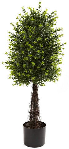 5413 Ixora Indoor Outdoor Silk Topiary Plant by Nearly Natural | 35 inches