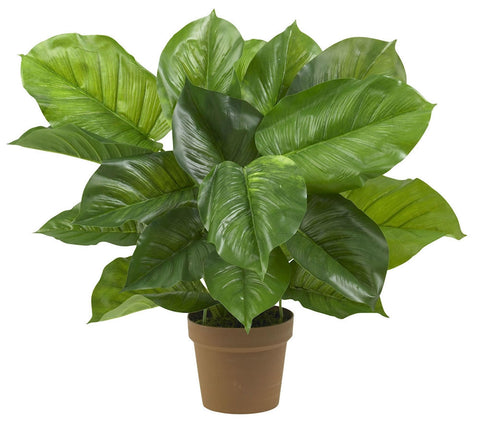 6582 Large Leaf Philodendron Silk Plant by Nearly Natural | 27 inches