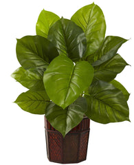 6733 Large Leaf Philodendron Silk Plant by Nearly Natural | 28 inches