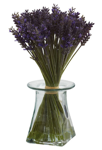 1331 Silk Lavender in Water with Vase by Nearly Natural | 11.5 inches