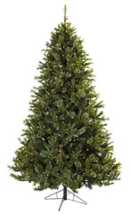 5375 Majestic Silk Christmas Tree with Lights by Nearly Natural | 7.5 feet