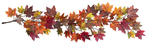 4939 Maple Leaf Artificial Silk Autumn Garland by Nearly Natural | 5 feet