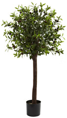 5411 Olive Artificial Standard Topiary Tree by Nearly Natural | 4 feet